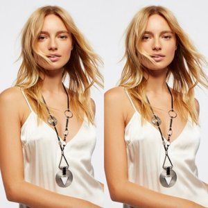 $48 Free People Leather Montero Pendant Necklace